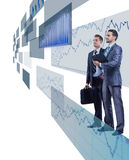 Businessmen looking at shining chart Royalty Free Stock Photo