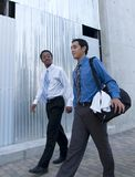 Businessmen - lunch workout 1 royalty free stock photos