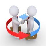 Businessmen make agreement Stock Photo