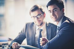 Businessmen at meeting Royalty Free Stock Photo