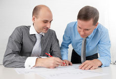 Businessmen meeting in office Royalty Free Stock Photo