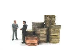Businessmen and money Stock Image