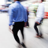 Businessmen on the move in the city Royalty Free Stock Images