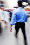 Businessmen on the move in the city Royalty Free Stock Image