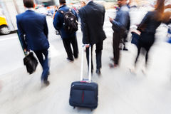 Businessmen on the move in the city Royalty Free Stock Photography