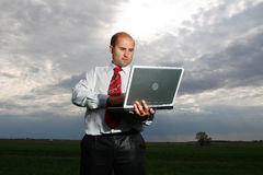 Businessmen and nature Royalty Free Stock Photos