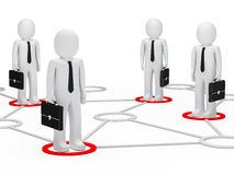 Businessmen network Royalty Free Stock Photo