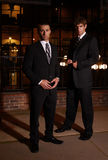 Businessmen at night Royalty Free Stock Image