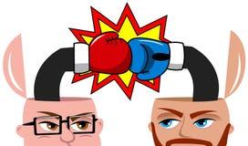 Businessmen Open Minded Fighting Disagree  Stock Images