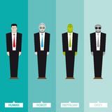 Businessmen from outer space Royalty Free Stock Images
