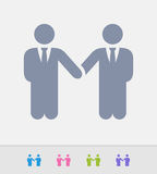 Businessmen Partnership - Granite Icons Royalty Free Stock Image