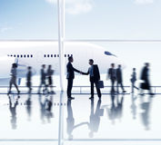 Businessmen Partnership Travel Destination Business Trip Concept Royalty Free Stock Images