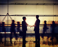 Businessmen People Handshake Corporate Greeting Communication Conc Royalty Free Stock Photography