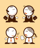 Businessmen peoples. Set of businessmen peoples funny icons Stock Photos