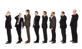 Businessmen on the phone Royalty Free Stock Photography