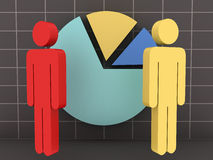 Businessmen with Pie Chart Royalty Free Stock Photo