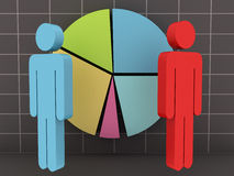 Businessmen with Pie Chart Royalty Free Stock Photography