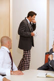 Businessmen with pijamas pants Royalty Free Stock Photography