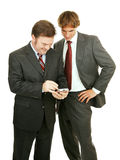 Businessmen Play Electronic Games Royalty Free Stock Photography