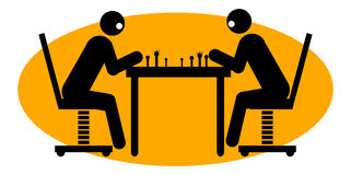 Businessmen playing chess Royalty Free Stock Photos