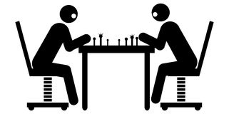 Businessmen playing chess Royalty Free Stock Photo
