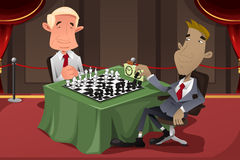 Businessmen Playing Chess Stock Image