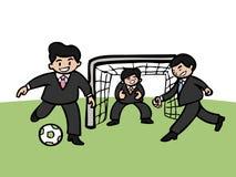 Businessmen playing football vector illustration