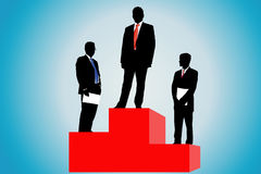 Businessmen on a podium Royalty Free Stock Photos