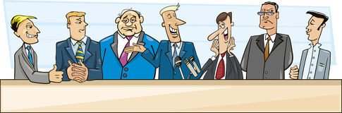 Businessmen and politicians royalty free illustration