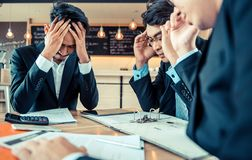 Businessmen are pressured and unsuccessful. Businessmen are pressured to work and unsuccessful Stock Photography