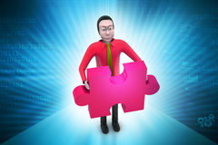 Businessmen  with  puzzle piece Royalty Free Stock Images