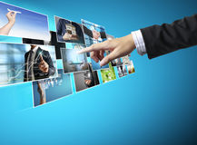 Businessmen and Reaching images streaming Stock Image