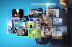 Businessmen and Reaching images streaming Royalty Free Stock Photography