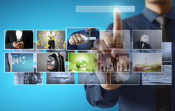 Businessmen and Reaching images streaming Royalty Free Stock Image