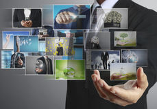Businessmen and Reaching images streaming Royalty Free Stock Images