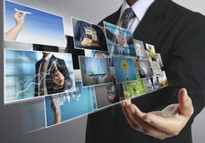 Businessmen and Reaching images streaming Stock Photos