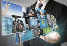 Businessmen and Reaching images streaming Stock Photo