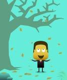 Businessmen rejoice in autumn Royalty Free Stock Image