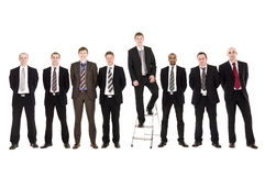 Businessmen in a row Royalty Free Stock Photos