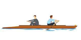 Businessmen rowing in opposition Stock Images