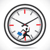 Businessmen run in clock compete the time. Stock Royalty Free Stock Images