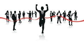Businessmen running Stock Photo