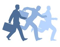 Businessmen Running Silhouettes Royalty Free Stock Photography