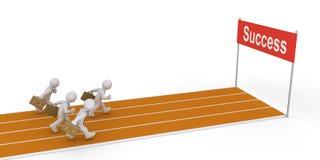 Businessmen running on track Stock Image