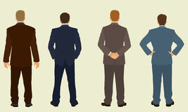 Businessmen's back. Four Business men from Behind Stock Photography