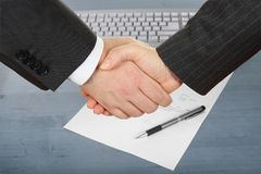 Businessmen's handshake Royalty Free Stock Images