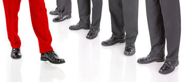 Businessmen's legs Royalty Free Stock Photo