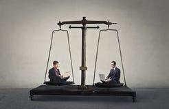 Businessmen scale Stock Photo