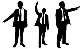 Businessmen. Set of different businessmen pointing isolated Stock Photography