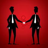 Businessmen shake hand Royalty Free Stock Photos